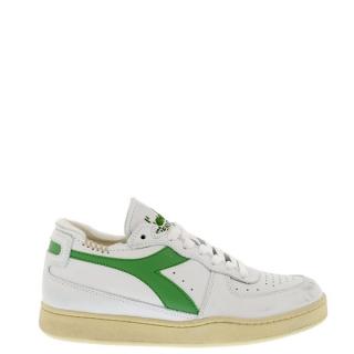 Diadora Heritage - Mi basket row cut white/stone green