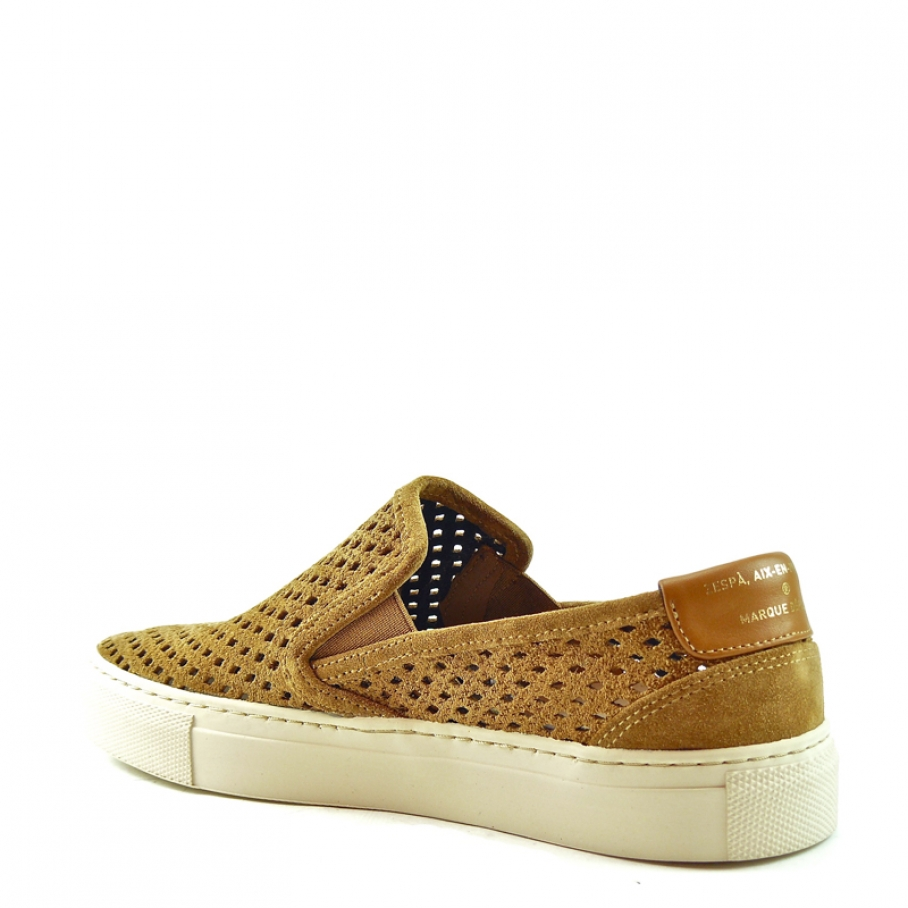 Zespa - Zespa slip-on sneaker brown suede
