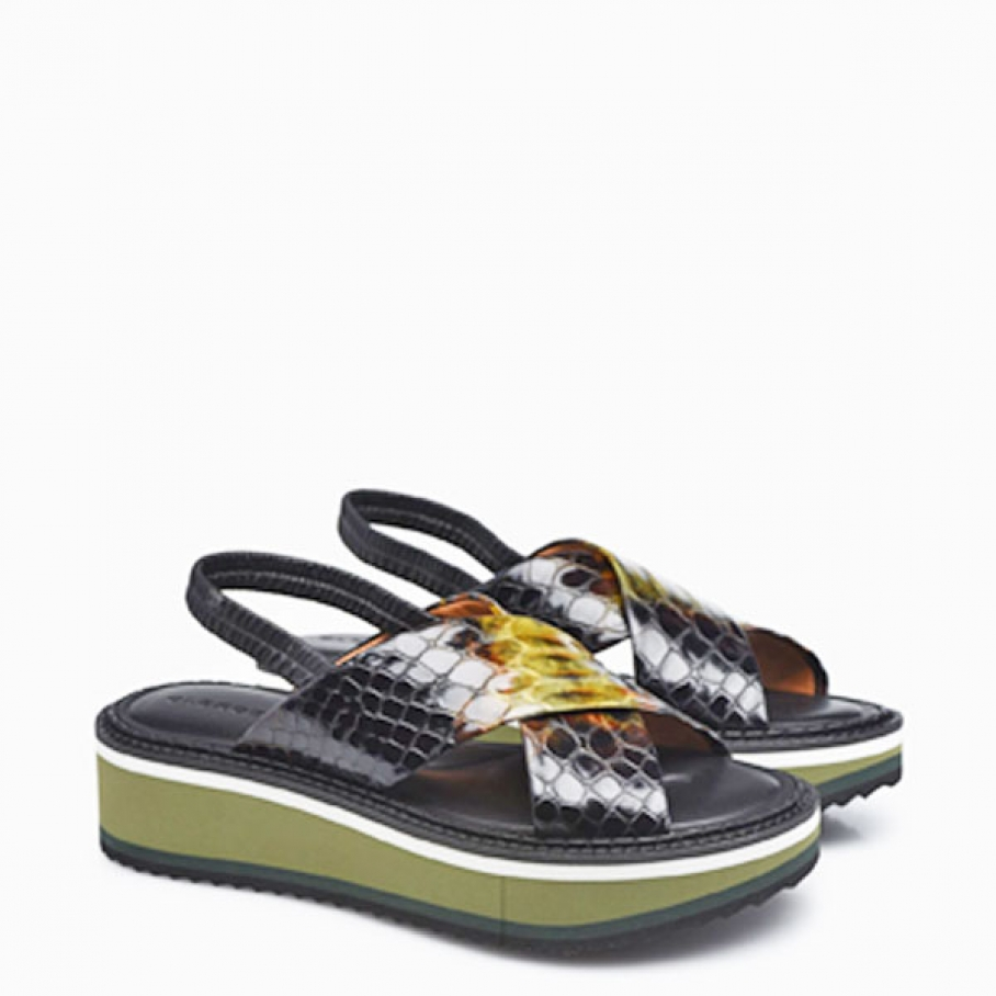 Clergerie - Clergerie Freedom olive snakeprint
