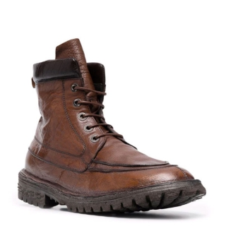Moma - MOMA lace up boot brown